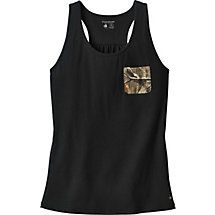 Show off in camo and soak up the sun! Featuring Big Game® Field Camo, these cute tanks are made from super soft 100% cotton and includes an adorable contrast front pocket and stylish embossed metal Signature Buck tag. This summer tank is sure to excite.