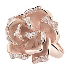 Rose gold and diamond ring by Annamaria Cammilli