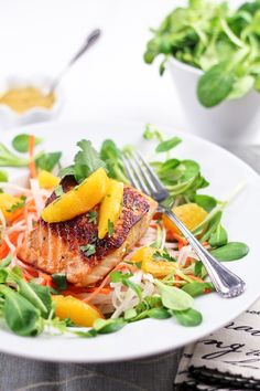 Orange Ginger Salmon Fillet | by Sonia! The Healthy Foodie - Made this last week and marinated the salmon in the vinaigrette - LOVED it!