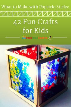 You kids will be amazed at how many different easy crafts for kids they can make with just a simple popsicle stick!