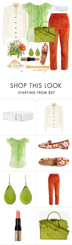 """""""Blossoming in Orange"""" by sarina-noel ❤ liked on Polyvore featuring Ssheena, Burberry, Oscar de la Renta, Dsquared2, Michael Kanners, Isa Arfen, Bobbi Brown Cosmetics, Mehry Mu, orange and fashionset"""