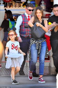 Two-day trek: The Honest Company founder was also spotted at the theme park on Thursday