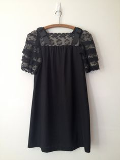 vintage 60s divine little black lace sleeves by vintspiration, $48.00