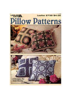 Crochet Pillow Patterns - Eight Pillow Designs Crochet Pattern - Leisure Arts 2739