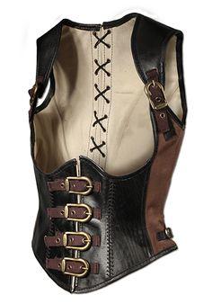 KorsettRogue Dieseschön geschnitteneKorsett aus robustem Leder, ist die perfekte Ergänzung einesfemininen LARP-Outfits.Durch dieVerwendung vonMessingschnallenundLaschen kann die...
