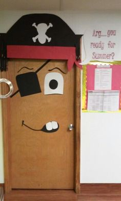 my pirate door for the summer. kids and parents love it.