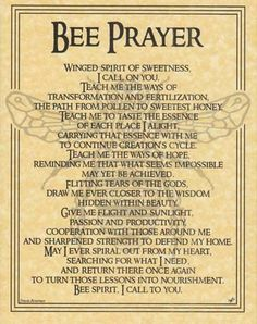 Bee Prayer Poster Wicca Pagan Witch Witchcraft Goth Punk Book of Shadows | eBay