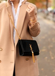 The Camel Coat  via BrooklynBlonde.com / @brooklynblonde  This purse is giving me life!!!