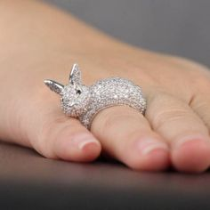 I JUST have to have this  adorable bunny ring