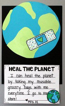 Lesson Heal the Planet {An Earth Day Mini-Unit + Craftivity} plus interactive reader about problems facing our planet Kindergarten Writing Prompts, In Kindergarten, Earth Day Crafts, Earth Day Projects, Art Projects, Earth Day Activities, Stem Activities, Teaching Science, Life Science