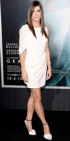 Love her dress and hair cut!