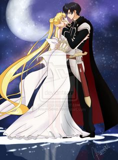 I loved this image that appears in the ending song of Sailor Moon Crystal. It´s perfect but without faces and you can see it complete only as a ref. Usagi and Mamoru - Sailor Moon Crystal Sailor Moon Crystal, Sailor Moon Stars, Sailor Moon Usagi, Sailor Uranus, Sailor Moon Background, Sailor Moon Wallpaper, Princesa Serena, Sailor Moon Wedding, Sailor Moom