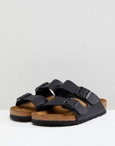 3959e51d3f14c0 Birkenstock arizona black flat sandals