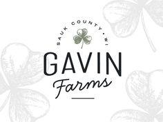 Gavin Farms Logo by Rebekah Disch Business Card Mock Up, Business Card Design, Website Design Inspiration, Logo Inspiration, Branding Design, Logo Design, Branding Ideas, Graphic Design, Web Design
