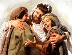 Η Μάρθα και η Μαρία καλωσορίζουν τον αδελφό τους τον Λάζαρο κατά την ανάστασή του