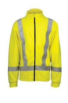 DragonWear's Briteline jacket is made of a lightweight, warm and breathable hi-viz yellow Polartec® Thermal FR® fleece which is constructed from a unique blend of fibers for permanent flame resistance.