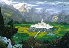 Tuor Reaches the Hidden City of Gondolin by Ted Nasmith