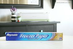 Freezer paper will iron on to fabric so you can paint