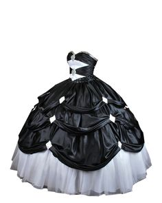 Black and White Ball Gown PNG by ~Vixen1978 on deviantART
