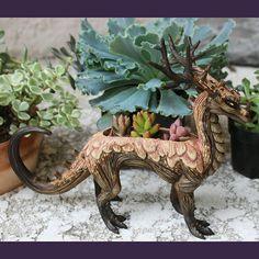 dragon plant clay handmade