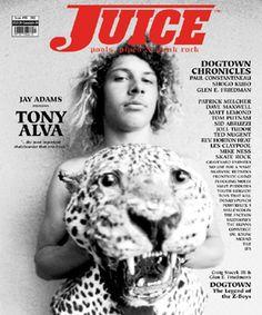 Tony Alva on the cover of Juice Magazine