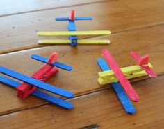 Make your own airplanes with lazor cut pieces