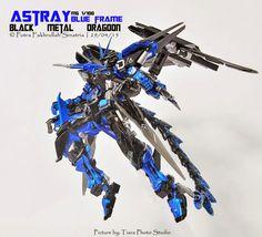 MG 1/100 Astray Blue Frame Black Metal Dragoon - Custom Build