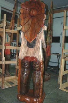 Best Plaster Cast Large Vintage Cigar Store Indian Statue 640 x 480
