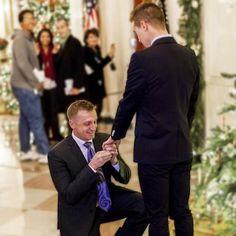 marine corps captain matthew phelps, proposing to his partner ben schock @ the white house.