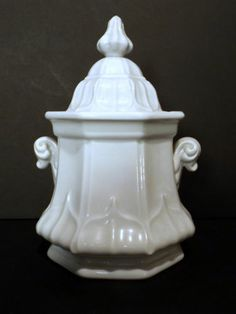 Sydenham Shape T R Boote Staffordshire Antique White Ironstone Large Sugar Bowl