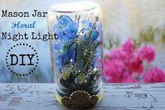 Summertime DIY Collab| Mason Jar Floral Night Light