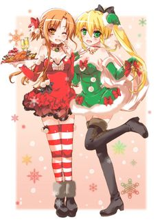 Asuna and Leafa, from Sword Art Online.