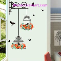 Plane Wall Sticker Fheaven Waterproof Environmental Protection Birdcage Decorative Painting Bedroom Living room TV Wall Decoration Wall Stickers Mural ** For more information, visit image link. (This is an affiliate link) Deco Stickers, Removable Wall Stickers, Wall Stickers Murals, Wall Stickers Home Decor, Window Stickers, Living Room Wall Stickers, Sticker Deco, Nursery Stickers, Decorative Stickers