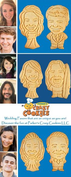 Parker's Crazy Cookies offers the most unique wedding favor & bridal shower favor on the market. Custom cookies of the bride & groom! Cookie Wedding Favors, Unique Wedding Favors, Unique Weddings, Our Wedding, Wedding Gifts, Dream Wedding, Wedding Decorations, Wedding Ideas, Autumn Wedding