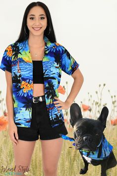 Super cute pet bandanas with matching hawaiian shirts. We have them in a range of colours to match our Hawaiian clothing for men, women & children. #frenchie #frenchbulldog #bandana #dogbandana #frenchiebandana #hawaiianprints #hawaiianbandana #islandstyleclothing #dogs #dogs #pets #dogbandanas #dog-bandanas