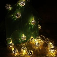 Amazon.com: Cmyk® Battery Operated Silver Moroccan Orb LED Fairy Lights with 40 Warm White Leds, Ambiance Lighting, Great for Indoor Use in Party, Bedroom Decor (4m): Home Improvement