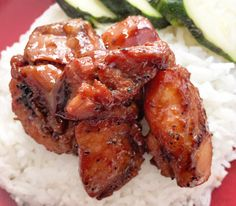 An easy and delicious recipe for a Filipino breakfast favourite dish, Chicken Tocino! Filipino Recipes, Asian Recipes, Healthy Recipes, Filipino Food, Ethnic Recipes, Filipino Dishes, Hawaiian Recipes, Asian Foods, Healthy Food