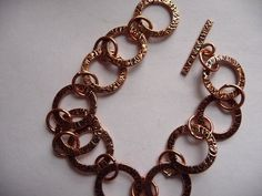 Chain, antiqued copper, 15mm, textured round, 8 point 5mm round, 7and half inches, with toggle clasp, Sold individually by darsjewelrysupplies. Explore more products on http://darsjewelrysupplies.etsy.com