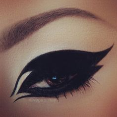 Photo by vegas_nay. Extreme black eyeshadow and eyeliner.  Defined eyes. Dramatic eyes. Sexy make up