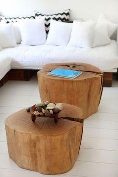 TABLE BASSE EN RONDIN DE BOIS DETOURNEMENT DIY www.atelier-des-singulieres.fr