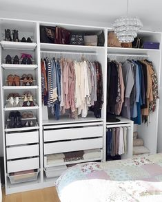 Lovely Make Dressing Room Design Ideas Wardrobe Closet, Closet Bedroom, Home Bedroom, Bedroom Decor, Decor Room, Home Decor, Ikea Open Wardrobe, Ikea Fitted Wardrobes, Ikea Pax Closet