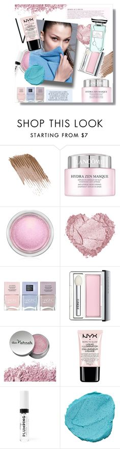 """""""Natural glow"""" by kmcg3 ❤ liked on Polyvore featuring beauty, Lancôme, MAC Cosmetics, Nails Inc., Clinique, NYX, KAROLINA and By Terry"""