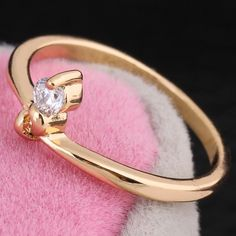 Fashion Copper Round Finger Ring Inlay White Shiny Zircon Rings for Women Two Colors
