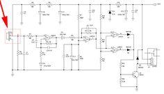 example ciruit using d203s pir sensor medium waves, frequency response, circuit  diagram, techno