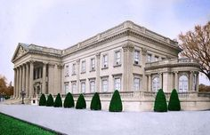 Lynnewood Hall- designed by architect Horace Trumbauer for industrialist Peter A. B. Widener between 1897 and 1900.Peter A. B. Widener died at Lynnewood Hall at the age of 80 on November 6, 1915 after prolonged poor health.[1] He was predeceased by his elder son George Dunton Widener and grandson Harry Elkins Widener, both of whom died when the Titanic sank in 1912.
