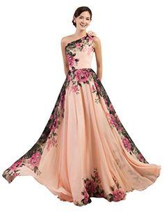 One Shoulder Chiffon Long Bridesmaid Dress with Sash Size 12