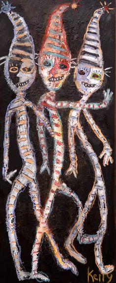 Return of the Tricksters ….neo-folk art, neo-outsider, flea market artist Kelly Moore