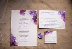 Amber-Reinink-photography-strathmore-wedding-maryland-watercolor-invitation-purple-pink Purple wedding invitations