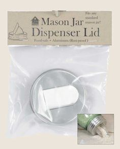 Mason Jar Aluminum Grain Dispenser Lid Perfect for Rice, Barley or your Sweetener. Fits a regular mouth canning jar.