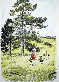 E.H. Shepherd made the most magical illustrations. All his trees always rustled with wind.